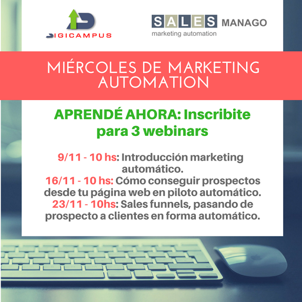 Te invitamos a que te inscribas en los seminarios de marketing automation